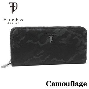 フルボデザイン 財布 メンズ財布 Furbo design カモフラージュ ラウンドジップ長財布 FRB131 BLACK ギフト プレゼント 誕生日|zennsannnet