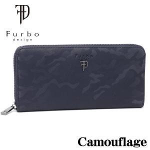 フルボデザイン 財布 メンズ財布 Furbo design カモフラージュ ラウンドジップ長財布 FRB131 NAVY ギフト プレゼント 誕生日|zennsannnet