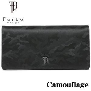 フルボデザイン 財布 メンズ財布 Furbo design カモフラージュ 長財布 FRB132 BLACK ギフト プレゼント 誕生日|zennsannnet