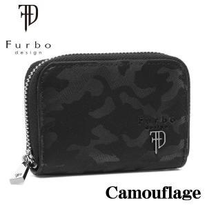 フルボデザイン 財布 メンズ財布 Furbo design カモフラージュ ラウンドジップ小銭入れ財布 FRB135 BLACK ギフト プレゼント 誕生日|zennsannnet