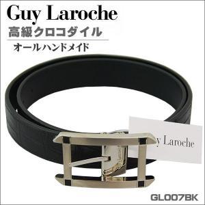 ギラロッシュ 高級クロコダイル メンズベルト ブラック GL007BK ギフト プレゼント 贈答品|zennsannnet