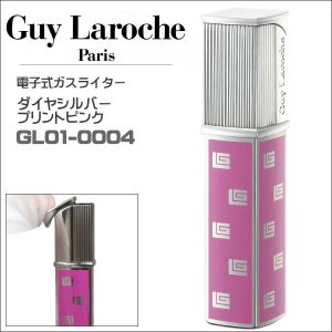 ギラロッシュ guylaroche 電子式ライター ダイヤシルバープリントピンク GL01-0004  正規代理店品 ギフト プレゼント|zennsannnet