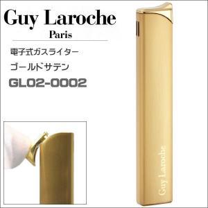 ギラロッシュ guylaroche 電子式ライター スリム ゴールドサテン GL02-0002  正規代理店品 ギフト プレゼント|zennsannnet