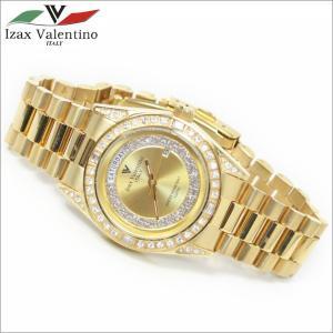 メンズ腕時計 ゴールドカラー 10気圧防水 デイトカレンダー アイザック・バレンチノ IVG-1000-1|zennsannnet