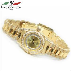 レディス腕時計 ゴールドカラー 10気圧防水 デイトカレンダー アイザック・バレンチノ IVL-1000-1|zennsannnet