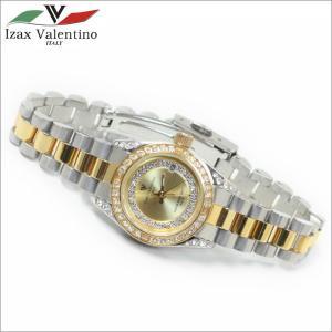 レディス腕時計 コンビカラー 10気圧防水 デイトカレンダー アイザック・バレンチノ IVL-1000-3|zennsannnet