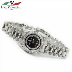 レディス腕時計 ブラックカラー 10気圧防水 デイトカレンダー アイザック・バレンチノ IVL-1000-6|zennsannnet
