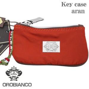 OROBIANCO オロビアンコ 6連キーケース レッド ARAN ファスナーポケット付|zennsannnet