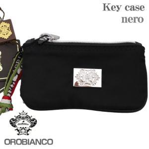OROBIANCO オロビアンコ 6連キーケース ブラック NERO ファスナーポケット付|zennsannnet