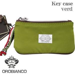 OROBIANCO オロビアンコ 6連キーケース グリーン VERD ファスナーポケット付|zennsannnet