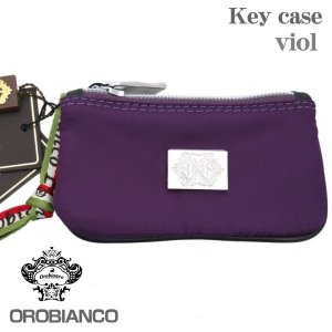 OROBIANCO オロビアンコ 6連キーケース バイオレット VIOL ファスナーポケット付|zennsannnet