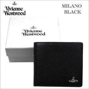 ヴィヴィアン・ウエストウッド 2つ折れ財布 ブラック BLACK MILANO 51010016 シルバーオーヴ No-10|zennsannnet
