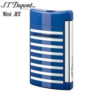 St.デュポン ST.DUPONT ミニジェット 電子ガスターボライター 喫煙具 ストライプ ブルーホワイト 10105|zennsannnet