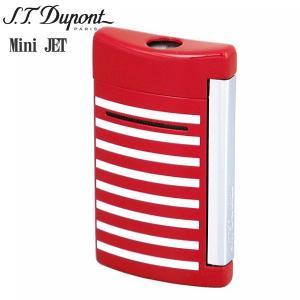 St.デュポン ST.DUPONT ミニジェット 電子ガスターボライター 喫煙具 ストライプ レッドホワイト 10107|zennsannnet