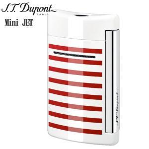 St.デュポン ST.DUPONT ミニジェット 電子ガスターボライター 喫煙具 ストライプ ホワイトレッド 10108|zennsannnet