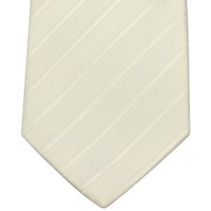 ネクタイ necktie 日本製 西陣織り シルク100% NJ11-49-03 フォーマル 白ストライプ|zennsannnet