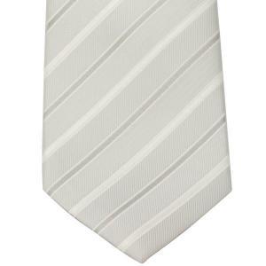 ネクタイ necktie 日本製 西陣織り シルク100% NJ11-49-04 フォーマル シルバーストライプ|zennsannnet