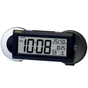 SEIKO CLOCK 目覚し時計 PYXIS ライデン デジタル 電波時計 大音量 NR533K ブラック ギフト プレゼント|zennsannnet