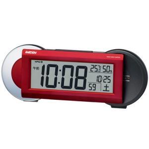 SEIKO CLOCK 目覚し時計 PYXIS ライデン デジタル 電波時計 大音量 NR533R レッド ギフト プレゼント|zennsannnet