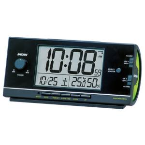SEIKO CLOCK 目覚し時計 PYXIS ライデン デジタル 電波時計 大音量 NR534K ブラック|zennsannnet
