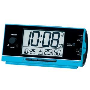 SEIKO CLOCK 目覚し時計 PYXIS ライデン デジタル 電波時計 大音量 NR534L ブルー|zennsannnet