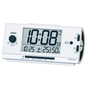 SEIKO CLOCK 目覚し時計 PYXIS ライデン デジタル 電波時計 大音量 NR534W ホワイト|zennsannnet