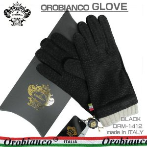 オロビアンコ メンズ手袋 グローブ ブラック 23cm カピバラ ウール イタリー製 ORM-1412 ギフト プレゼント 誕生日 クリスマス|zennsannnet
