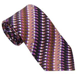 エミリオ プッチ EMILIO PUCCI 紳士ネクタイ necktie シルク100% イタリー製 P7011-1 ギフト プレゼント 贈答品 記念品|zennsannnet