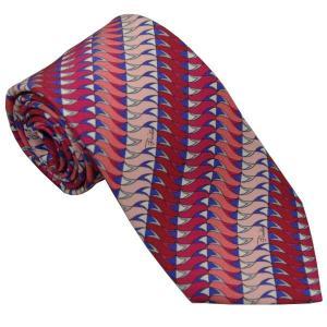 エミリオ プッチ EMILIO PUCCI 紳士ネクタイ necktie シルク100% イタリー製 P7011-2 ギフト プレゼント 贈答品 記念品|zennsannnet