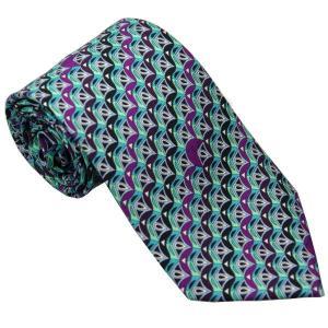エミリオ プッチ EMILIO PUCCI 紳士ネクタイ necktie シルク100% イタリー製 P7012-5 ギフト プレゼント 贈答品 記念品|zennsannnet