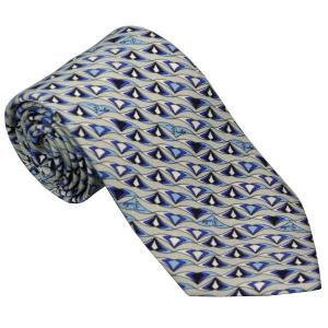 エミリオ プッチ EMILIO PUCCI 紳士ネクタイ necktie シルク100% イタリー製 P7013-6 ギフト プレゼント 贈答品 記念品|zennsannnet