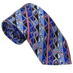 エミリオ プッチ EMILIO PUCCI 紳士ネクタイ necktie シルク100% イタリー製 P7016-6 ギフト プレゼント 贈答品 記念品|zennsannnet