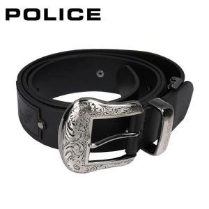 ポリス POLICE メンズベルト PLC204 ブラック|zennsannnet