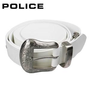 ポリス POLICE メンズベルト PLC204 ホワイト|zennsannnet