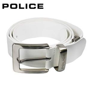 ポリス POLICE メンズベルト PLC205 ホワイト|zennsannnet