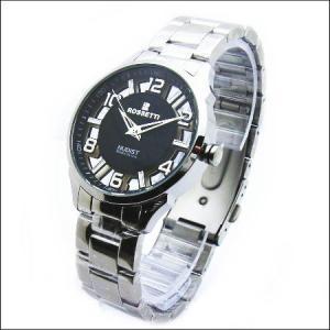 ヌーディタイプのロセッティ【ROSSETTI】メンズ腕時計RO-012G-BK|zennsannnet