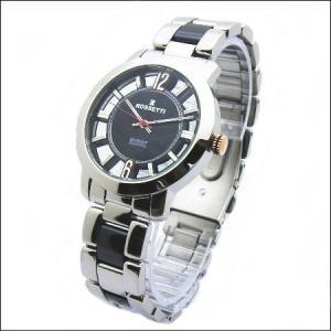 シースルーケースとベルトにセラミック駒のロセッティ【ROSSETTI】メンズ腕時計RO-014G-BK|zennsannnet