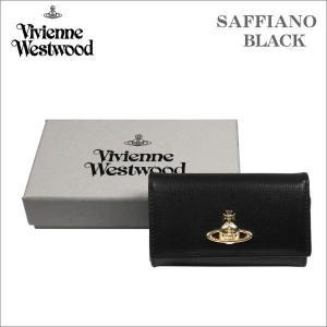 ヴィヴィアン・ウェストウッド キーケース サフィアーノ  ブラック ゴールドオーヴ SAFFIANO  BLACK No-10|zennsannnet