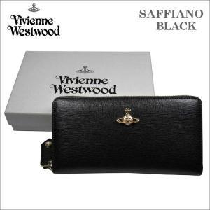 ヴィヴィアン・ウエストウッド ラウンドジップ式 長財布 サフィアーノ ブラック ゴールドオーヴ SAFFIANO No-10|zennsannnet