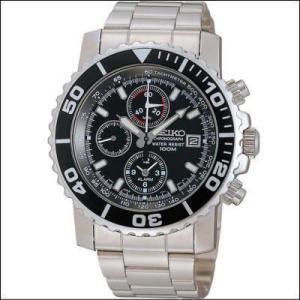 セイコー SEIKO 12時間制アラーム機能 クロノグラフ メンズ腕時計 SNA225PC ブラックフェイス|zennsannnet