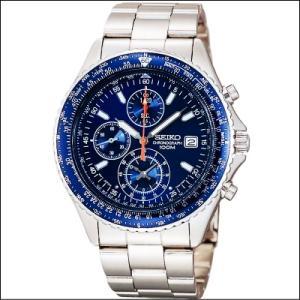 セイコー SEIKO パイロットクロノグラフ メンズ腕時計 シャンパンブルーフェイス SND255PC|zennsannnet