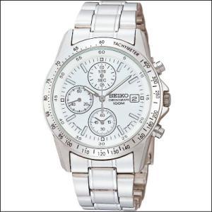 セイコー SEIKO 1/20秒 クロノグラフ メンズ腕時計 SND363P クリアホワイト|zennsannnet