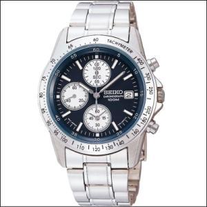 セイコー SEIKO 1/20秒 クロノグラフ メンズ腕時計 SND365P ネイビーカラー|zennsannnet