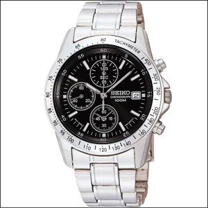 セイコー SEIKO 1/20秒 クロノグラフ メンズ腕時計 SND367PC ライトブラック|zennsannnet