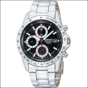 セイコー SEIKO 1/20秒 クロノグラフ メンズ腕時計 SND371P ブラックダイヤル|zennsannnet
