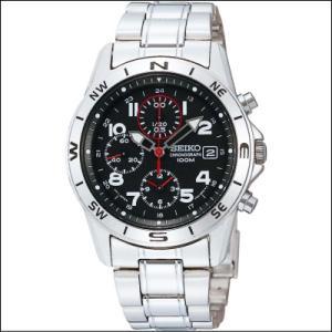 セイコー SEIKO 1/20秒 クロノグラフ メンズ腕時計 SND375P ブラックフェイス|zennsannnet