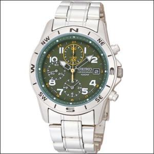 セイコー SEIKO 1/20秒 クロノグラフ メンズ腕時計 SND377P モスグリーンフェイス|zennsannnet