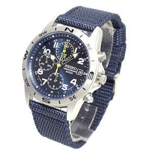 セイコー SEIKO ミリタリーメンズ腕時計 1/20秒クロノグラフマリンブルーフェイス SND379R|zennsannnet