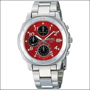 セイコー SEIKO 1/20秒 クロノグラフ メンズ腕時計 SND495P レッドフェイス|zennsannnet
