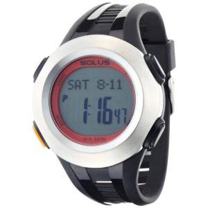 心拍計測 ランニングウォッチ 腕時計 ソーラス SOLUS メンズ腕時計 Professional 101-02 シルバーxブラック zennsannnet